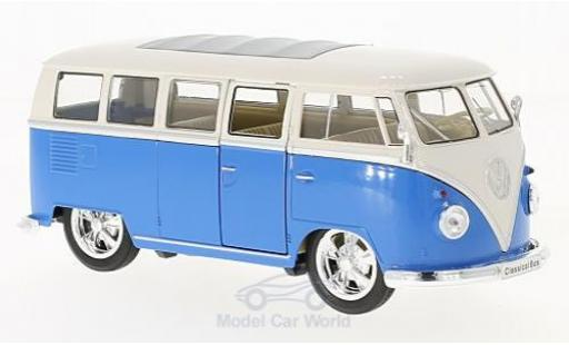 Volkswagen T1 B 1/24 Welly us Low Rider bleue/blanche 1963 miniature