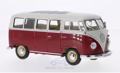 Volkswagen T1 B 1/24 Welly us rot/weiss 1963 modellautos