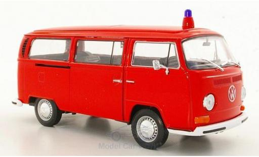 Volkswagen T2 1/24 Welly Bus Feuerwehr 1972 ohne Vitrine diecast