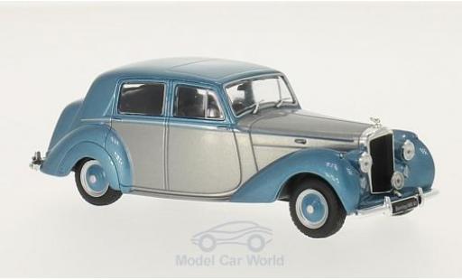Bentley Mark 6 1/43 WhiteBox MK VI grise/metallise bleue RHD 1950 miniature