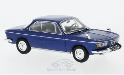 Bmw 2000 CS 1/43 WhiteBox metallise blue 1966 diecast model cars