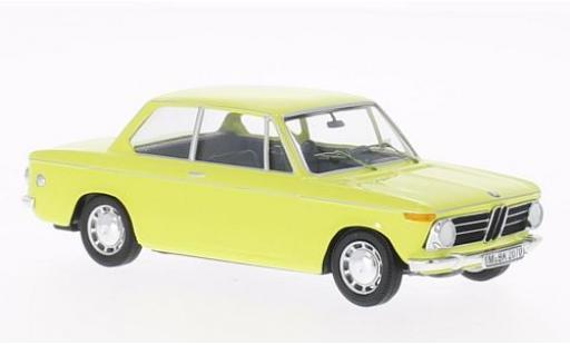 Bmw 2002 1/43 WhiteBox jaune miniature