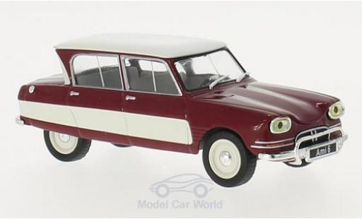 Citroen Ami 6 1/43 WhiteBox AMI 6 dunkelred/white 1961 diecast