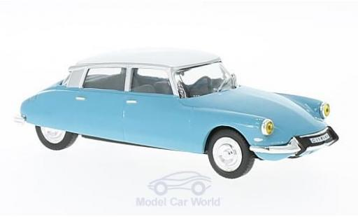 Citroen DS 19 1/43 WhiteBox 19 hellbleue/blanche 1966 miniature