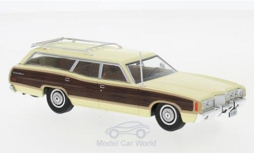 Ford LTD 1/43 WhiteBox Country Squire jaune/Holzoptik 1972 miniature