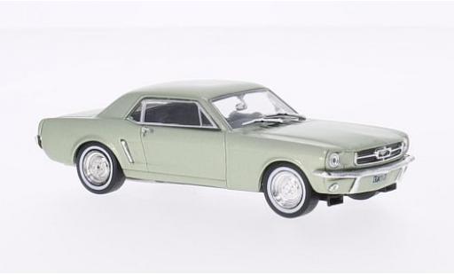Ford Mustang 1/43 WhiteBox metallise verte 1965 miniature