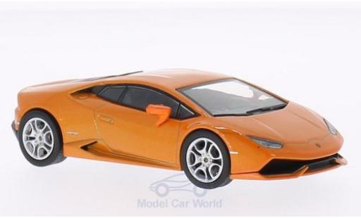 Lamborghini Huracan 1/43 WhiteBox LP 610-4 metallic-orange 2014 miniature