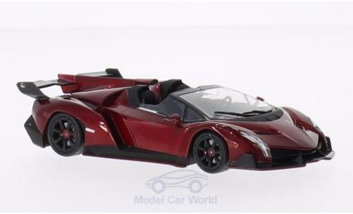 Lamborghini Veneno 1/43 WhiteBox Roadster metallic-dunkelrosso 2013 miniatura