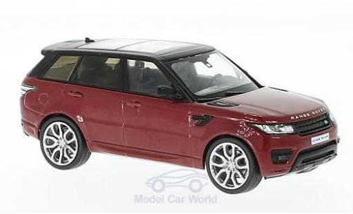 Land Rover Range Rover 1/43 WhiteBox Sport metallise rouge/noire 2014 miniature