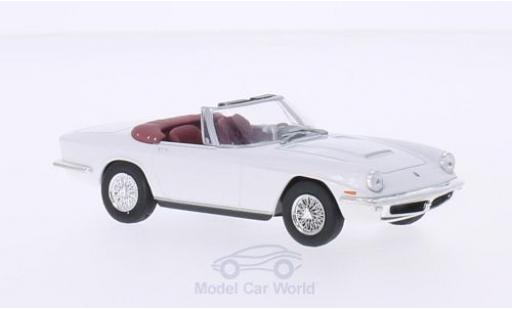 Maserati Mistral 1/43 WhiteBox Spyder blanche miniature