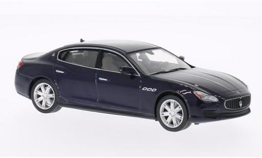 Maserati Quattroporte 1/43 WhiteBox GTS metallise bleue 2013 miniature