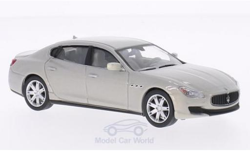 Maserati Quattroporte 1/43 WhiteBox GTS metallic grey 2013 diecast
