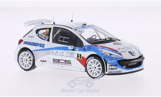 Peugeot 207 S2000 1/43 WhiteBox S2000 No.5 FIA European Rally Championship Tour de Corse 2013 B.Bouffier/X.Panseri miniature