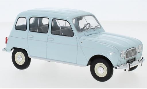 Renault 4 1/24 WhiteBox L bleue miniature