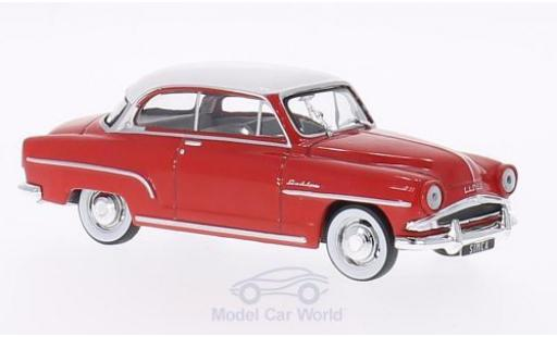 Simca Aronde 1/43 WhiteBox Grand Large rouge/blanche 1953