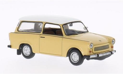 Trabant 601 1/43 WhiteBox Universal beige/blanche 1965 miniature