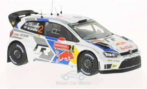 Volkswagen Polo 1/43 WhiteBox R WRC No.2 Motorsport Red Bull Rallye WM Rallye Schweden 2014 J-M.Latvala/M.Anttila miniature