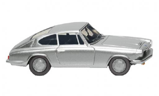 Bmw 1600 1/87 Wiking GT Coupe grey 1967 diecast model cars