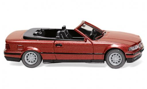Bmw 325 1/87 Wiking i (E36) Cabriolet metallise rouge 1993