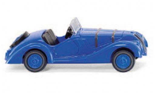 Bmw 328 1/87 Wiking blue diecast model cars
