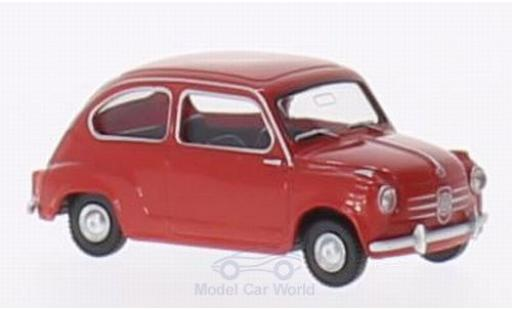Fiat 600 1/87 Wiking rouge miniature