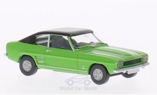 Ford Capri 1/87 Wiking MK I verte/noire miniature