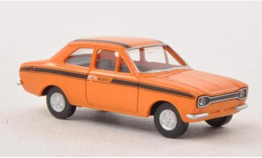 Ford Escort 1/87 Wiking I Mexico orange/noire miniature