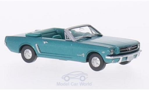 Ford Mustang 1/87 Wiking Convertible metallic-dunkeltürkis miniature