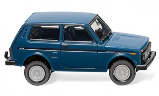 Lada Niva 1/87 Wiking bleue miniature