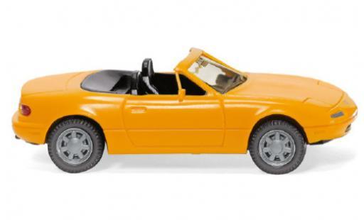 Mazda MX5 1/87 Wiking jaune 1989 miniature