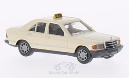 Mercedes 190 E 1/87 Wiking D (W201) beige Taxi (D) miniature