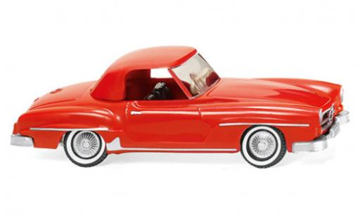 Mercedes 190 1/87 Wiking SL Coupe (W121 BII) rouge miniature