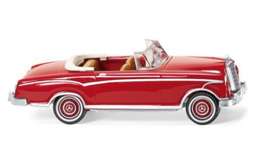 Mercedes 220 1/87 Wiking S Cabriolet (W180 II) rouge miniature