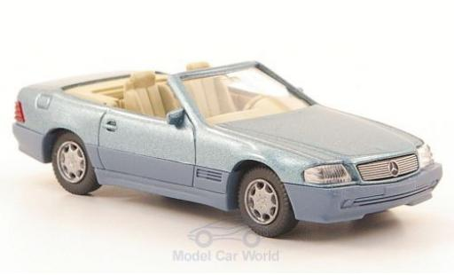 Mercedes 500 1/87 Wiking SL (R129) metallise bleue/matt-grise miniature