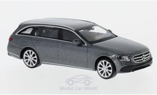 Mercedes Classe E 1/87 Wiking (S213) Avantgarde metallise grise miniature