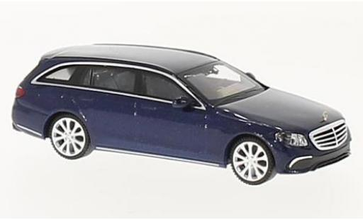 Mercedes Classe E 1/87 Wiking T-Modell (S213) Exklusive metallise bleue miniature