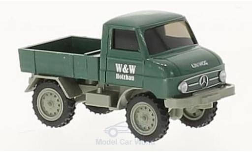 Mercedes Unimog 1/87 Wiking U 411 W&W Holzbau miniature