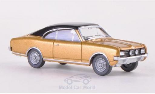Opel Commodore C 1/87 Wiking A gold/negro miniatura