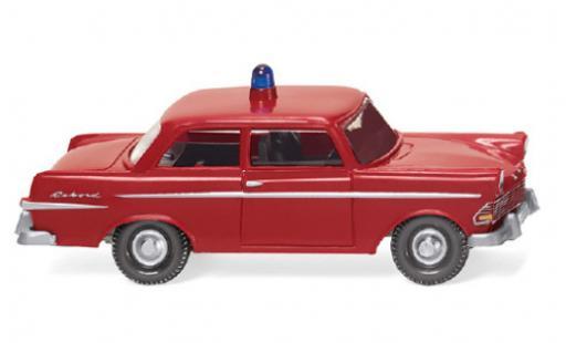 Opel Rekord 1/87 Wiking Feuerwehr 1960 miniature