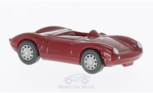 Porsche 550 1/87 Wiking Spyder dunkelrouge miniature