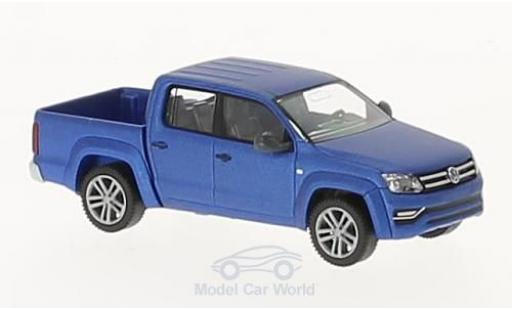 Volkswagen Amarok 1/87 Wiking GP Highline matt-bleue miniature