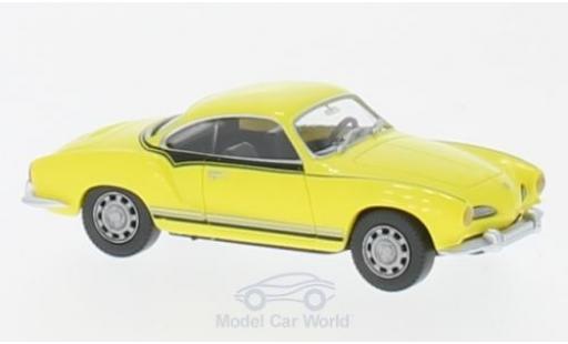 Volkswagen Karmann 1/87 Wiking Ghia Coupe jaune/Dekor miniature