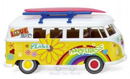 Volkswagen T1 1/87 Wiking Bus Flower Power 1963 modellautos