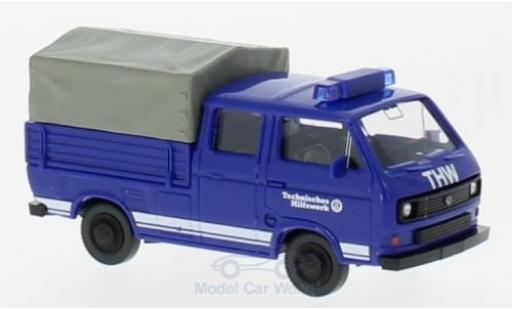 Volkswagen T3 B 1/87 Wiking Doppelkabine THW miniature