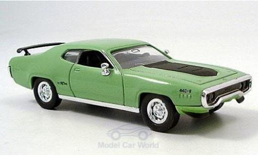 Plymouth GTX 1/43 Yat Ming hellgrün/noire 1971 miniature