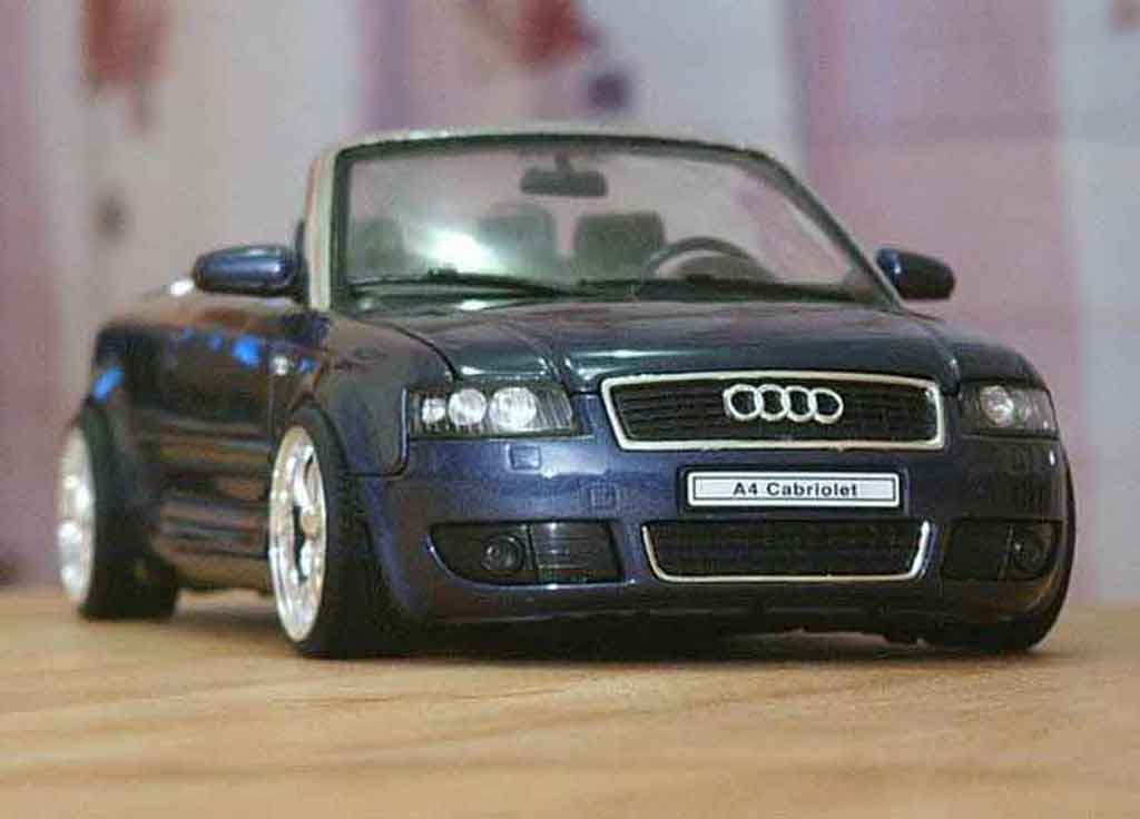 Audi A4 cabriolet 1/18 Welly german look tuning coche miniatura