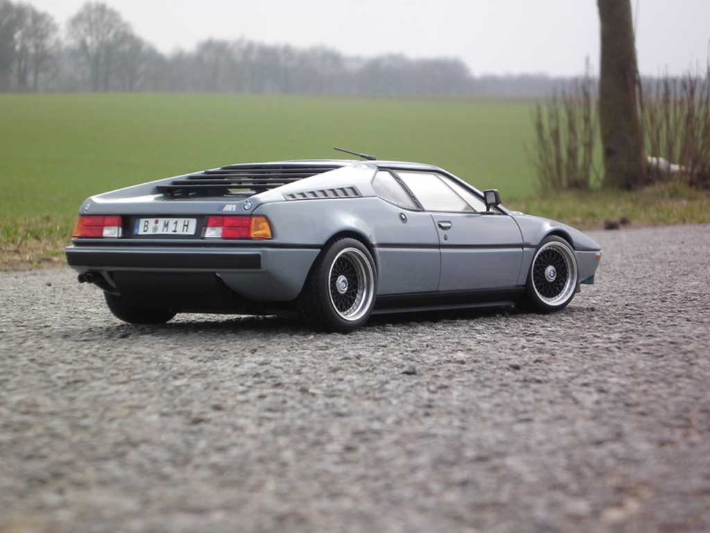 Bmw M1 1978 1/18 Norev gray jantes BBS  echappement chrome tuning diecast