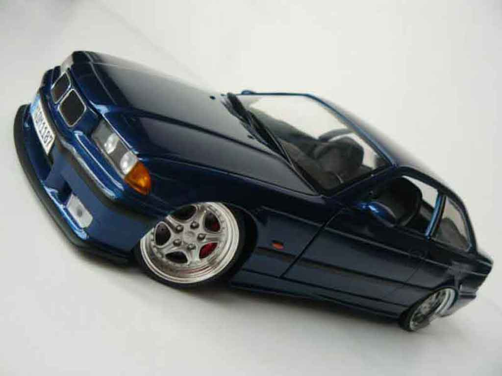 Bmw M3 E36 1/18 Ut Models blue avus jantes porsche 18 pouces tuning diecast model cars