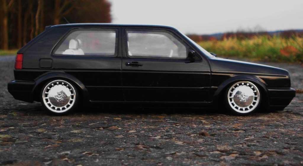 Volkswagen Golf 2 Gti Miniature 16s Noire Jantes 17 Pouces