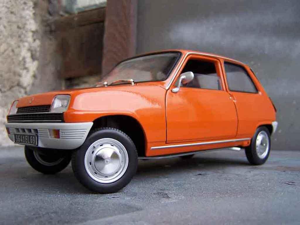 renault 5 tl miniature orange solido 1 18 voiture. Black Bedroom Furniture Sets. Home Design Ideas